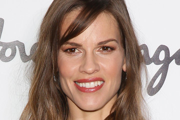 Hilary Swank Front Row at the Salvatore Ferragamo Show