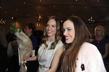 """Hilary Swank Sandra Bauknecht Montblanc And UNICEF Celebrate The Launch Of Their New """"Signature For Good 2013"""" Initiative At A Pre-Oscar Charity Brunch With Special Guest Hilary Swank"""
