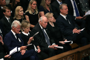 Hillary Clinton Bill Clinton National Cathedral Hosts Memorial Service For Sen. John McCain (R-AZ)