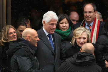 Hillary Clinton Funeral Held for Mario Cuomo in NYC
