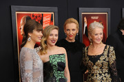 "(L-R) Actresses Jessica Biel, Scarlett Johansson, Toni Collette and Dame Helen Mirren attend the ""Hitchcock"" New York Premiere at Ziegfeld Theater on November 18, 2012 in New York City."