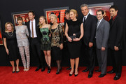 "(L-R) Jessica Biel, James D'Arcy, Scarlett Johansson, Dame Helen Mirren, Sacha Gervasi, Toni Collette, Danny Huston, Michael Stuhlbarg and Ralph Macchio attend the ""Hitchcock"" New York Premiere at Ziegfeld Theater on November 18, 2012 in New York City."