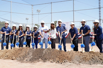 Holly Robinson Peete RJ Peete Dodgers Dreamfield 51 Marks The First Step On The Road To 75 Fields By The Dodgers 75th Anniversary in Los Angeles