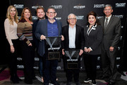 Christina Derenthal, Kristen Cavanaugh, James Corden, Lucian Grainge, Irving Azoff, Donelle Dadigan and Leron Gubler attend The Hollywood Chamber's 7th Annual State Of The Entertainment Industry Conference Presented By Variety at Loews Hollywood Hotel on November 15, 2018 in Hollywood, California.