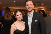 Actress Anna Kendrick (L) and recording artist Justin Timberlake pose in the green room during the Hollywood Film Awards on November 6, 2016 in West Hollywood, California.