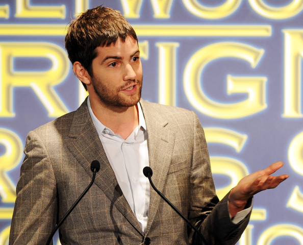 Actor Jim Sturgess speaks onstage during the Presentation of Grants at the Hollywood Foreign Press Association's 2011 Installation Luncheon at Beverly Hills Hotel on August 4, 2011 in Beverly Hills, California.