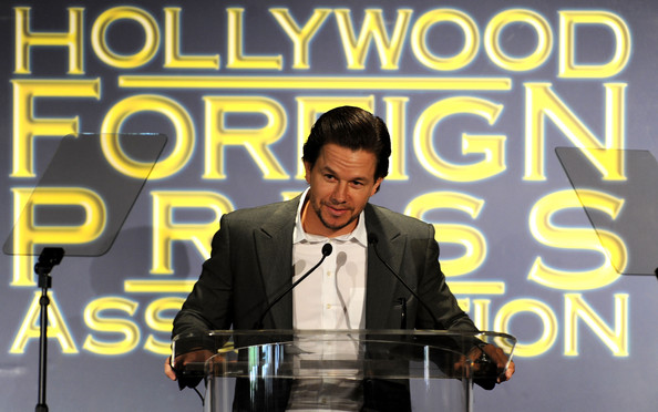 Actor Mark Wahlberg speaks onstage during the Presentation of Grants at the Hollywood Foreign Press Association's 2011 Installation Luncheon at Beverly Hills Hotel on August 4, 2011 in Beverly Hills, California.