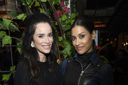 Abigail Spencer and Janina Gavankar attend the Hollywood Foreign Press Association and The Hollywood Reporter Celebration of the 2020 Golden Globe Awards Season and Unveiling of the Golden Globe Ambassadors at Catch on November 14, 2019 in West Hollywood, California.