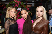 (L-R) Olivia Holt, Sofia Wylie and Dove Cameron attend the Hollywood Foreign Press Association and The Hollywood Reporter Celebration of the 2020 Golden Globe Awards Season and Unveiling of the Golden Globe Ambassadors at Catch on November 14, 2019 in West Hollywood, California.