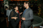 (L-R) Gurinder Chadha and Josh Lucas attend the Hollywood Foreign Press Association and The Hollywood Reporter Celebration of the 2020 Golden Globe Awards Season and Unveiling of the Golden Globe Ambassadors at Catch on November 14, 2019 in West Hollywood, California.