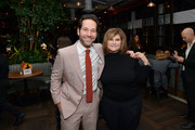Paul Rudd and Amy Pascal attend the Hollywood Foreign Press Association and The Hollywood Reporter Celebration of the 2020 Golden Globe Awards Season and Unveiling of the Golden Globe Ambassadors at Catch on November 14, 2019 in West Hollywood, California.