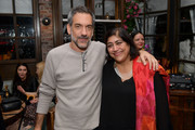 (L-R) Todd Phillips and Gurinder Chadha attend the Hollywood Foreign Press Association and The Hollywood Reporter Celebration of the 2020 Golden Globe Awards Season and Unveiling of the Golden Globe Ambassadors at Catch on November 14, 2019 in West Hollywood, California.
