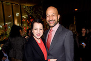 Elisa Pugliese and Keegan-Michael Key attend The Hollywood Reporter's 9th Annual Most Powerful People In Mediaat The Pool on April 11, 2019 in New York City.
