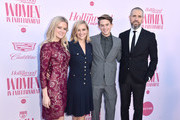 (L-R) Actor Ava Phillippe, honoree Reese Witherspoon, Deacon Reese Phillippe, and talent agent at CAA Jim Toth attend The Hollywood Reporter's Power 100 Women in Entertainment at Milk Studios on December 11, 2019 in Hollywood, California.