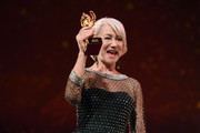 Helen Mirren receives the Honorary Golden Bear at the Homage Helen Mirren Honorary Golden Bear award ceremony during the 70th Berlinale International Film Festival Berlin at Berlinale Palace on February 27, 2020 in Berlin, Germany. Helen Mirren is this years recipient of the Honorary Golden Bear Award of the Berlinale.