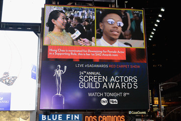 Hong Chau 24th Annual Screen Actors Guild Awards - Times Square Viewing