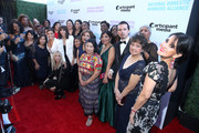 Rosanna Arquette, Rashida Jones and Eva Longoria with domestic workers attend National Domestic Workers Alliance's awards night watch party at The Jane Club on February 24, 2019 in Los Angeles, California.