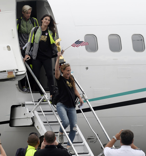 United States Women's National Team Arrive at LAX After World Cup Championship