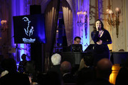 """Actress and singer Ashley Brown performs on stage during the """"Red Carpet Hospitality Gala,"""" hosted by the Hotel Association Of New York City at JW Marriott Essex House on November 26, 2018 in New York City. (Photo by Monica Schipper/Getty Images for Hotel Association of New York City (HANYC))"""