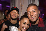(L-R) Neymar, Cindy Bruna and Kylian Mbappe attend Cindy Bruna's Birthday Party at Hotel Lutetia with Five Eyes Production as part of Paris Fashion Week Womenswear Spring Summer 2020 on September 28, 2019 in Paris, France.