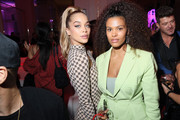 Jasmine Sanders and Tina Kunakey  attend Cindy Bruna's Birthday Party at Hotel Lutetia with Five Eyes Production as part of Paris Fashion Week Womenswear Spring Summer 2020 on September 28, 2019 in Paris, France.