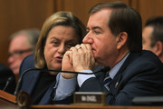 House Foreign Affairs Committee member Rep. Ileana Ros-Lehtinen (L) and committee Chairman Ed Royce (R-CA) hold a hearing about Cuba policy in the Rayburn House Office Building on Capitol Hill February 4, 2015 in Washington, DC. The committee heard testimony on the impact of U.S. policy changes toward Cuba and Assistant Secretary of State For Western Hemisphere Affairs Roberta Jacobson's recent trip to Havana to begin the reestablishment of diplomatic ties between the former Cold War enemies.