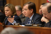 (L-R) House Foreign Affairs Committee member Rep. Ileana Ros-Lehtinen, Chairman Ed Royce (R-CA) and ranking member Rep. Eliot Engle (D-NY) hold a hearing about Cuba policy in the Rayburn House Office Building on Capitol Hill February 4, 2015 in Washington, DC. The committee heard testimony on the impact of U.S. policy changes toward Cuba and Assistant Secretary of State For Western Hemisphere Affairs Roberta Jacobson's recent trip to Havana to begin the reestablishment of diplomatic ties between the former Cold War enemies.