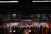 "House of Representatives Republican freshman (L-R) Rep. Scott Rigell (R-VA), Rep. Allen West (R-FL), Rep. Rob Woodall (R-GA), Rep. Francisco Canseco (R-TX), Rep. Bob Gibbs (R-OH), Rep. Jeff Landry (R-LA), Rep. Marlin Stutzman (R-IN), Rep. Scott Tipton (R-CO), Rep. Sandy Adams (R-FL), Rep. Austin Scott (R-GA), Rep. Martha Roby (R-AL) (obscured), Rep. Blake Farenthold (R-TX), Rep. Mo Brooks (R-AL), Rep. Renee Ellmers (R-NC), Rep. Bill Huizenga (R-MI), Rep. Mike Kelly (R-PA), Rep. Bobby Schilling (R-IL), Rep. Dan Benishek (R-MI) and Rep. Bill Flores (R-TX) call on the Senate to take up the budget that passed the House last April during a news conference at the U.S. Capitol October 4, 2011 in Washington, DC. Noting that the Senate has not passed a budget in 888 days, the GOP freshmen put forward their ""Operation Turnaround,"" a slate of 12 House-passed bills they say will spur job growth, reduce regulation, shrink the national debt and balance the budget."