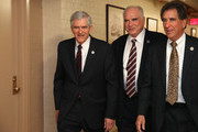 (L-R) Rep. Daniel Webster (R-FL), Rep. Mike Kelly (R-PA) and Rep. Jim Renacci (R-OH)     arrive for a House Republican caucus meeting in the U.S. Capitol on October 21, 2015 in Washington, DC. Webster is running to replace John Boehner (R-OH) as Speaker of the House and has the support of the far-right Freedom Caucus.