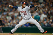Relief pitcher Roberto Hernandez #56 of the Houston Astros pitches against the Seattle Mariners in the eighth inning at Safeco Field on June 19, 2015 in Seattle, Washington.