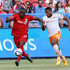 Jermaine Taylor Photos - Jozy Altidore #17 of Toronto FC gets past Jermaine Taylor #4 of the Houston Dynamo during an MLS soccer game between the Houston Dynamo and Toronto FC at BMO Field on May 10, 2015 in Toronto, Ontario, Canada. - Houston Dynamo v Toronto FC
