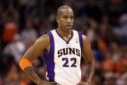 Michael Redd #22 of the Phoenix Suns during the NBA game against the Houston Rockets at US Airways Center on February 9, 2012 in Phoenix, Arizona. The Rockets defeated the Suns 96-89. NOTE TO USER: User expressly acknowledges and agrees that, by downloading and or using this photograph, User is consenting to the terms and conditions of the Getty Images License Agreement.