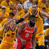 James Harden Rudy Gobert Photos - James Harden #13 of the Houston Rockets controls the ball in front of Dante Exum #11 and Rudy Gobert #27 both of the Utah Jazz in the first half during Game Four of Round Two of the 2018 NBA Playoffs at Vivint Smart Home Arena on May 6, 2018 in Salt Lake City, Utah. NOTE TO USER: User expressly acknowledges and agrees that, by downloading and or using this photograph, User is consenting to the terms and conditions of the Getty Images License Agreement. - Houston Rockets vs. Utah Jazz - Game Four
