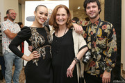 """(L-R) Cleopatra Coleman, Beth Grant and Shane Coffey attend the """"Hover"""" Los Angeles premiere screening at Arena Cinelounge on June 29, 2018 in Hollywood, California."""
