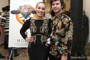 """Cleopatra Coleman (L) and Shane Coffey attend the """"Hover"""" Los Angeles premiere screening at Arena Cinelounge on June 29, 2018 in Hollywood, California."""