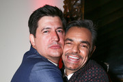 """Director Ken Marino (L) and actor Eugenio Derbez attend the premiere of """"How To Be A Latin Lover"""" on April 26, 2017 in Los Angeles, California."""