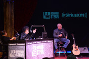 Robin Quivers, Howard Stern and Billy Joel speak at SiriusXM's Town Hall with Billy Joel hosted by Howard Stern at The Cutting Room on April 28, 2014 in New York City.
