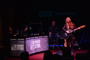 Melissa Etheridge performs at SiriusXM's Town Hall with Billy Joel hosted by Howard Stern at The Cutting Room on April 28, 2014 in New York City.
