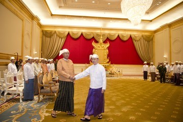 Htin Kyaw Htin Kyaw Sworn in as Myanmar President