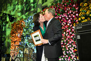 Hudson River Park Friends Trust Board Chair Diana L. Taylor and Michael Bloomberg onstage during the Hudson River Park Annual Gala at Cipriani South Street on October 17, 2019 in New York City.