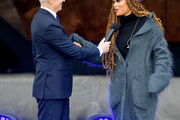 Anderson Cooper and Andra Day speak onstage at Hudson Yards, New York's Newest Neighborhood, Official Opening Event on March 15, 2019 in New York City.