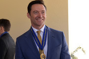 Australian actor Hugh Jackman poses for photographs after being awarded an Order of Australia by The Governor-General of Australia David Hurley at Government House on September 13, 2019 in Melbourne, Australia. Hugh Jackman was honoured for his service to the performing arts for his work as an advocate for poverty eradication.