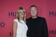 Franziska van Almsick and Juergen B. Harder attend the Hugo by Hugo Boss Show during the Mercedes Benz Fashion Week Autumn/Winter 2011 at Neue Nationalgalerie on January 20, 2011 in Berlin, Germany.