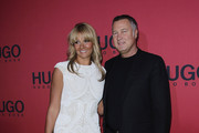 Franziska van Almsick and Juergen B. Harder attend the Hugo Boss Show during the Mercedes Benz Fashion Week Autumn/Winter 2011 at Neue Nationalgalerie on January 20, 2011 in Berlin, Germany.