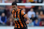 Hatem Ben Arfa of Hull City during the Premier League Football match between Hull City and Southampton at KC Stadium on November 1, 2014 in Hull, England.