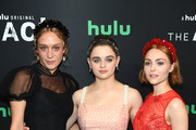 """(L-R) Chloe Sevigny, Joey King, and AnnaSophia Robb attend Hulu's """"The Act"""" New York Premiere at The Whitby Hotel on March 14, 2019 in New York City."""