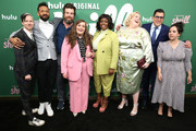 """(L-R) John Cameron Mitchell, Ian Owens, Luka Jones, Aidy Bryant, Lolly Adefope, Lindy West, Andrew Singer, Ali Rushfield attend Hulu's """"Shrill"""" New York Premiere at Film Society of Lincoln Center - Walter Reade Theater on March 13, 2019 in New York City."""
