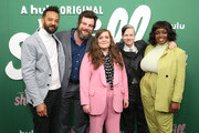 """(L-R) Ian Owens, Luka Jones, Aidy Bryant, John Cameron Mitchell, and Lolly Adefope attend Hulu's """"Shrill"""" New York Premiere at Film Society of Lincoln Center - Walter Reade Theater on March 13, 2019 in New York City."""