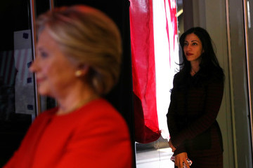 Huma Abedin Hillary Clinton Campaigns Across US One Day Ahead Of Presidential Election