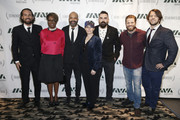 Jeffrey Wright  (3rd L) poses for a photo with guests as he attends IAVA 12th Annual Heroes Gala at the Classic Car Club Manhattan on November 8, 2018 in New York City.